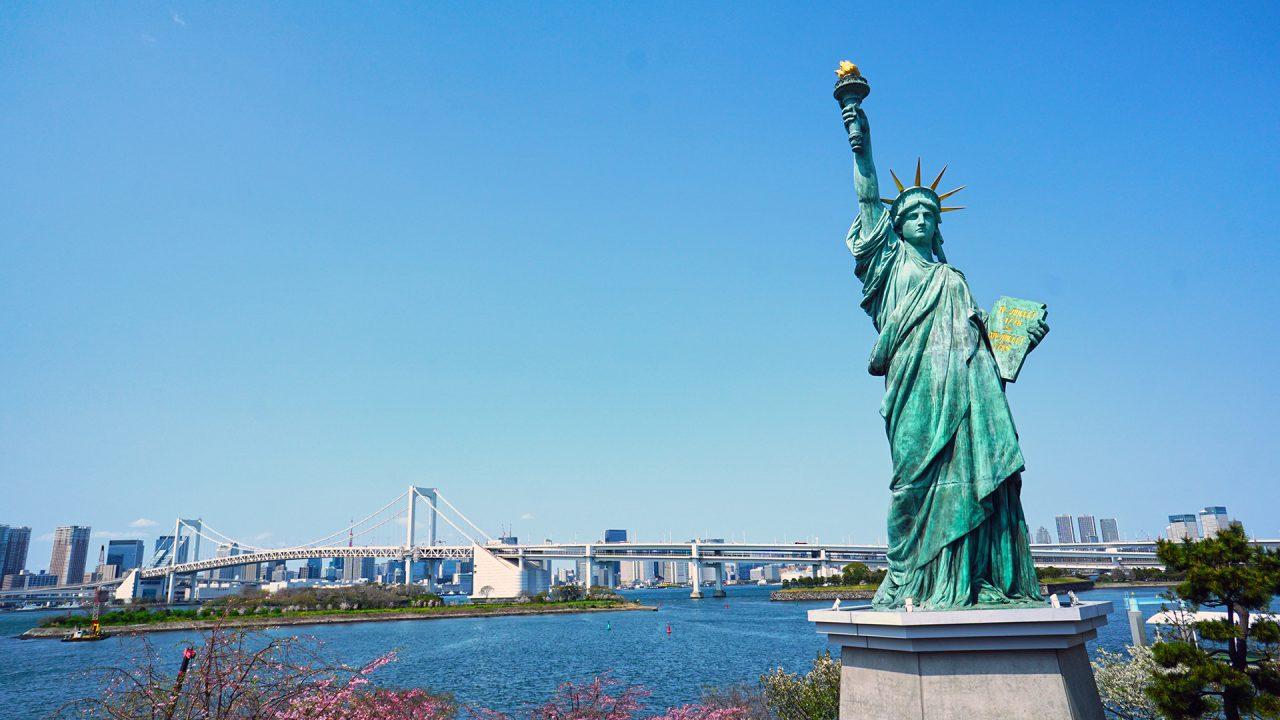 2 апреля. Токио, Одайба, Статуя Свободы